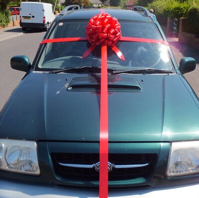 Large Big bow for car COMPLETE WRAP AROUND KIT +12 mtrs of ribbon.. ALL COLOURS
