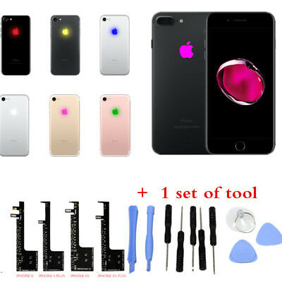 LED Mod Fashion Night Glow Cool Light logo for iPhone 6 6s Plus full new + tools