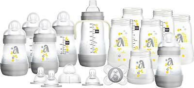 MAM Easy Start Self Sterilising Anti-Colic Bottle Starter Set Large Grey 23 Pcs