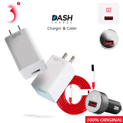 Original Oneplus 3T 5 5T 6 Dash Fast Charge Car Charger Adapter Type C Cable lot