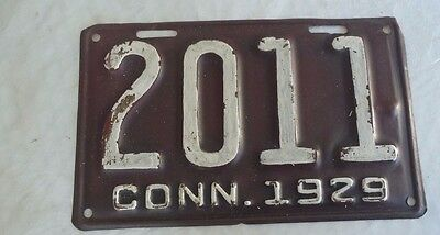 1929 Connecticut License Plate 2011