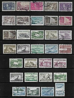 FINLAND mixed collection No.14, 1930-1963, used