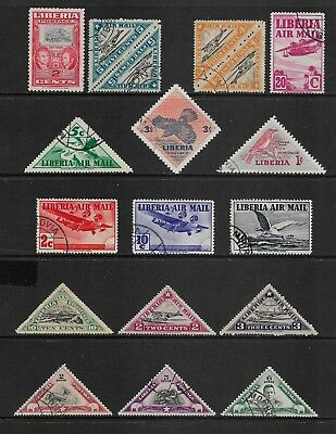 LIBERIA mixed collection No.8, incl Air Mail