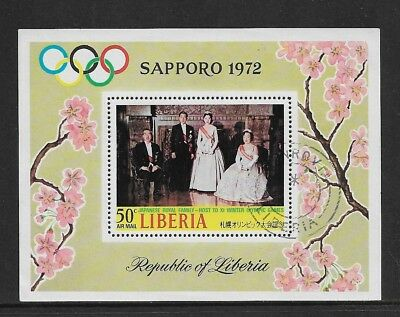 LIBERIA 1971 Winter Olympics Sapporo, mini sheet, CTO