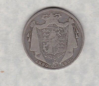1836 William Iiii Silver Half Crown In Used Condition