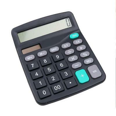 12-Dight Desk Calculator Jumbo Large Buttons Solar Desktop Battery Office UKGRL-