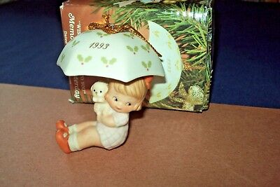 Memories of Yesterday Wish I Could Fly To You Umbrella 1993 Porcelain Ornament
