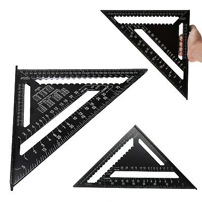 """New 12"""" SPEED SQUARE ALUMINIUM ALLOY RAFTER ANGLE MEASURE TRIANGLE GUIDE"""