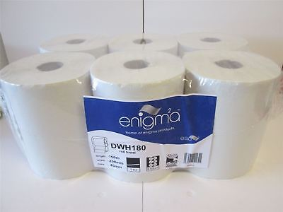 1 Ply White Continuous Roll - White - Case of 6 - Esp Enigma - DWH180