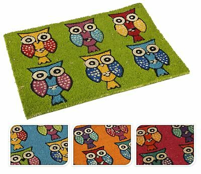 Owl Door Mat Rectangular Non Slip Rubber Back Bird Carpet Entrance Floor Rug New