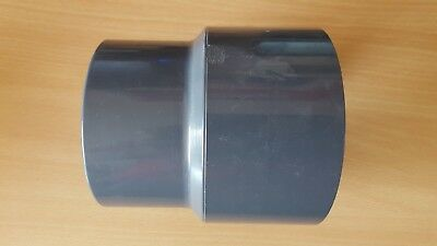 110 mm / 125 x 90 mm PVC Reducing Socket by Effast - Plain Ends for solvent weld