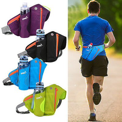 Hydration Belt Bum Bag Outdoor Sport Running Jogging Waist Water Bottle Holder