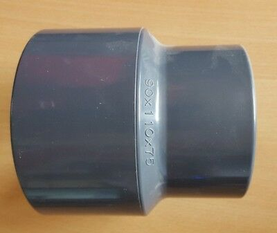 90 mm / 110 x 75 mm PVC Reducing Socket by Effast - Plain Ends for solvent weld
