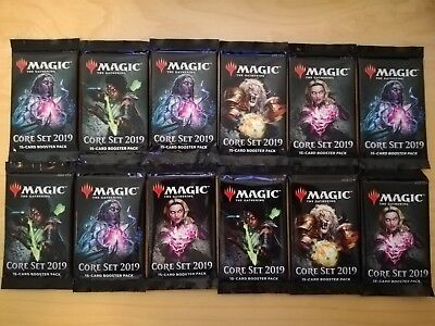 12x Core 2019 Booster englisch, geöffnet! Magic the Gathering! MTG