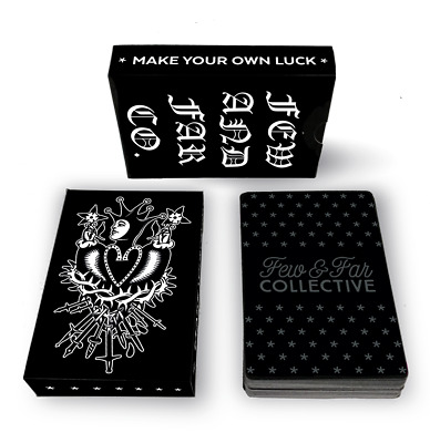 New Few & Far Card Deck Maples Playing Cards Traditional Tattoo Design Spade