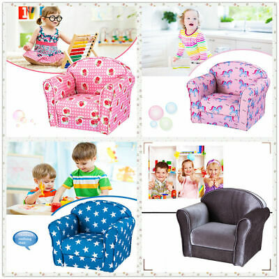 Kids Children Sofa Chair Armchair Seat Fabric Upholstered Bedroom Floor Chair UK