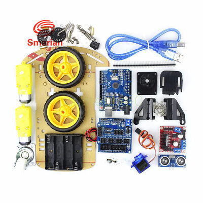 DIY Avoidance Tracking Motor Smart Robot Car Chassis Kit 2WD Ultrasonic Arduino