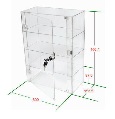 1 High Gloss Acrylic Display Case with Front Door & Security Lock DB088A-06IN