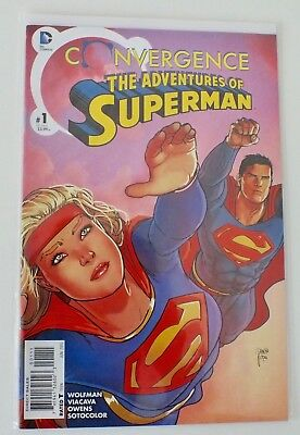 Convergence - Superman - # 1 - Bagged & Boarded - DC  - 2015 - NM - (590)