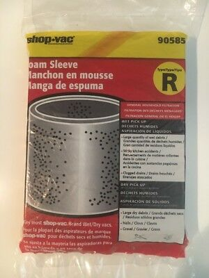 Type R Foam Filter Sleeve by Shop Vac 90585. Brand New.  Sealed