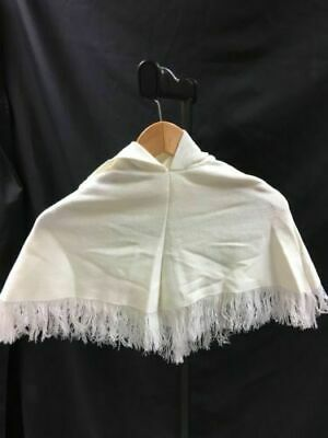 BULK LOT Girls Cream Knitted Hooded Poncho - 9 x Age 2-6 Size S /L/M /XL -(2654