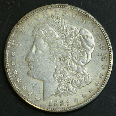1921-S Morgan Silver Dollar Coin $1 XF / AU Almost Uncirculated