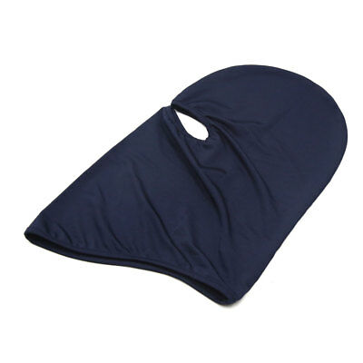 Dark Blue Polyester Motorcycle Cycling Windproof Face Mask Cap Neck Protector