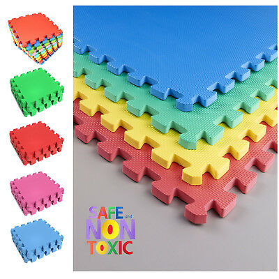 Eva Interlocking Soft Foam Kids Baby Activity Play Mat Set Tiles Floor 30cmX30cm