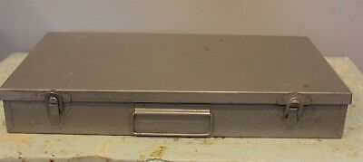 Logan De Luxe 110 -115  2x2 Slide File Box Storage Stamps Coin Metal Case