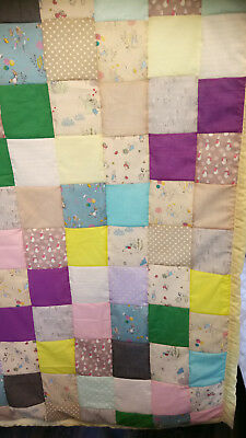 Single bed patchwork throw 55 X 75 INCH