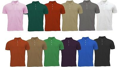 Mens Active Pique Polo T Shirts Size S to XL - SPORTS CASUAL WORK