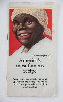 1925 Aunt Jemima recipe booklet with Aunt Jemima Rag Doll ad on back