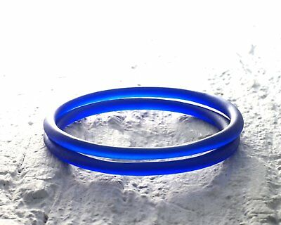 Cobalt Blue Glass Bangles made from Recycled Wine Bottle-Wine Lover Gift