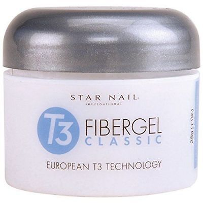 Star Nail T3 Fiber Gel Classic flexible sculpting gel  Clearly Clear  1oz(28g)