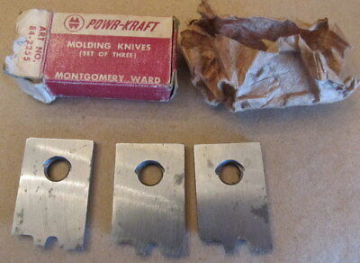 A Set Of 3 Power Craft Molding Knives Blades 84 2255 New Old Stock