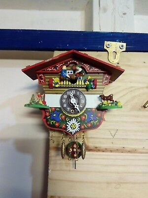 German Made Miniature Cuckoo Clock. Working.