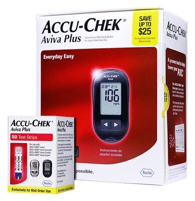 Accu-Chek Aviva Plus Meter Kit With Aviva 50 Strips Combo Pack (Long Expiration)