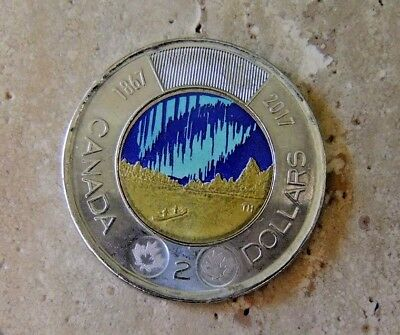 Canada Two Dollar Coin - Northern Lights - RARE