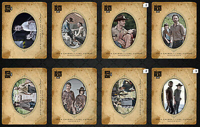 Walking Dead Card Trader Father's Day 2018 Full Set - Rick & Carl - Lot of 8