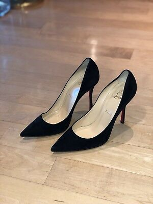 new products 768cd 498f5 CHRISTIAN LOUBOUTIN SO KATE Black Suede 120 mm Point Toe Pump