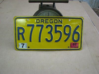 Oregon~R773596~Yellow~License Plate~