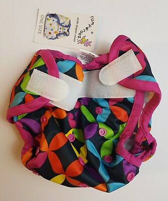 Rumparooz One Size Cloth Diaper Cover BNWT Aplix Closures & Snap Sizing (J)