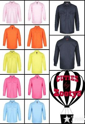 CutiesByZootys Children's Work Shirts 100% Cotton Range of Colours & Size