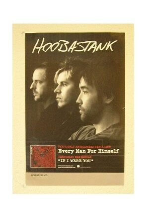 Hoobastank Poster Every Man For Himself Promo