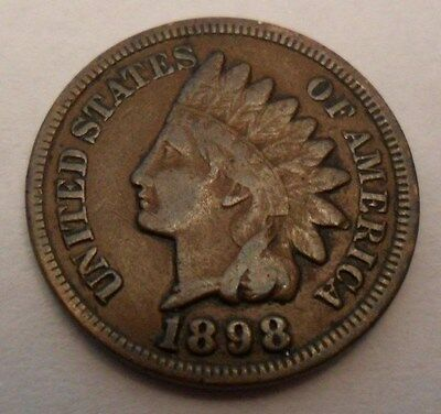 1898 P Indian Head Cent / Penny *AG OR BETTER*  **FREE SHIPPING**