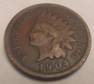 1904 P Indian Head Cent / Penny *AG OR BETTER*  **FREE SHIPPING**