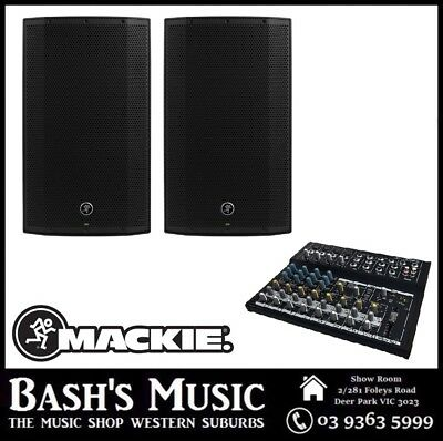Mackie Thump12A V2 Powered Speaker with MIX12FX Mixer PA System Pack