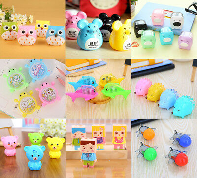 New Mini Cute Animals Kids School Plastic Pencil Sharpener Stationery Supplies
