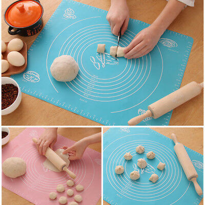 Silicone Pastry Mat Pad Dough Cutting Fondant Sheet Cookware Baking Accessories