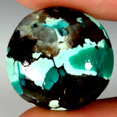 08.40Cts 100% NATURAL DESIGNER TIBET TURQUOISE ROUND CABOCHON LOOSE GEMSTONE